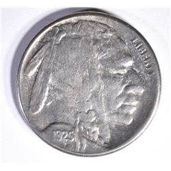 1925-S BUFFALO NICKEL, AU/BU