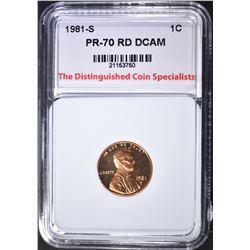 1981-S LINCOLN CENT, TDCS PERFECT GEM PR RD DCAM
