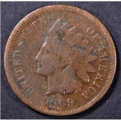 1869 INDIAN CENT GOOD