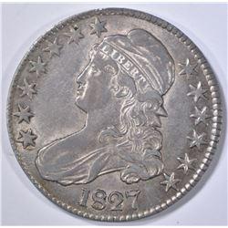 1827 BUST HALF DOLLAR, AU