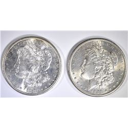 2 1881-S MORGAN DOLLARS CH BU