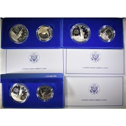 3-1986 STATUE OF LIBERTY PROOF 2-COIN COMMEM SETS