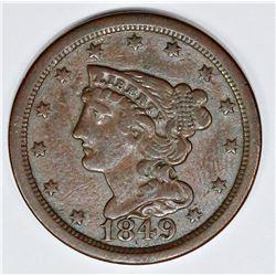 1849 HALF CENT