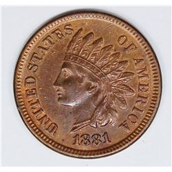 1881 INDIAN CENT
