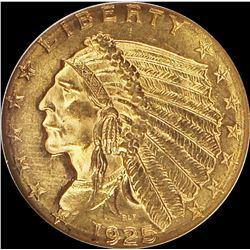 1925-D INDIAN $2.50 GOLD