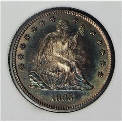 1865 SEATED QUARTER