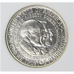 1954-D WASHINGTON CARVER HALF DOLLAR