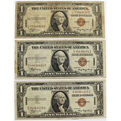 (3) 1935 A HAWAII $1.00 SILVER CERTIFICATES