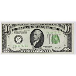 1928-B $10.00 FEDERAL RESERVE NOTE