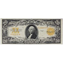 1922 $20.00 GOLD NOTE
