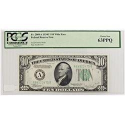 1934-C $10.00 FEDERAL RESERVE NOTE