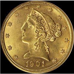 1901 $5.00 GOLD