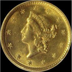 1851 $1.00 GOLD