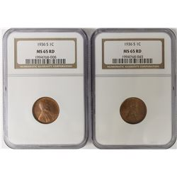 eTWO 1936-S LINCOLN CENTS