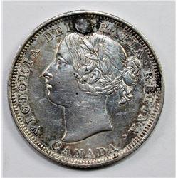1858 CANADA TWENTY CENT PIECE