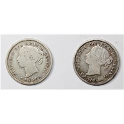 TWO CANADA DIMES