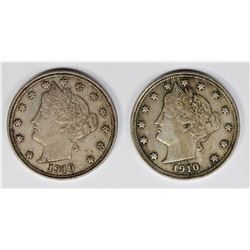 TWO PIECE 1910 LIBERTY NICKELS