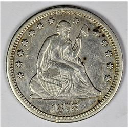 1878-CC SEATED QUARTER