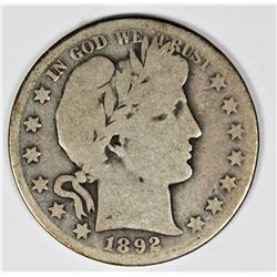 1892-O BARBER HALF DOLLAR