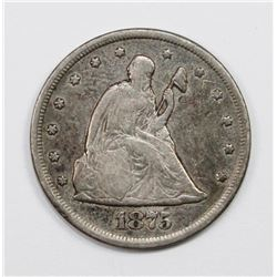 1875-CC TWENTY CENT PIECE