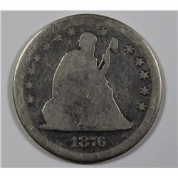 1876 CC SEATED QUARTER