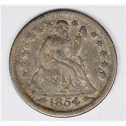 1854 SEATED DIME