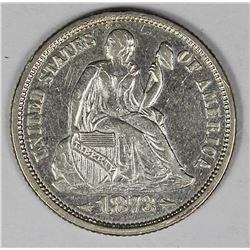 1873 SEATED DIME