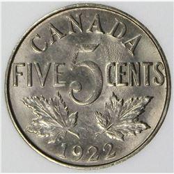 1922 CANADA NICKEL