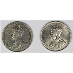 1924 AND 1925-S CANADA NICKELS