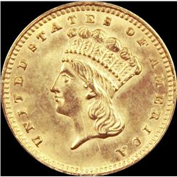 1862 GOLD DOLLAR