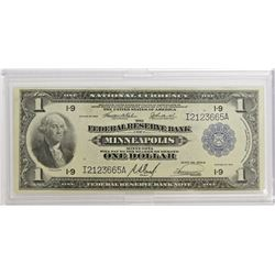 1918 $1.00 MINNEAPOLIS FEDERAL RESERVE NOTE