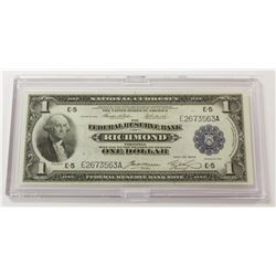1918 $1.00 RICHMOND FEDERAL RESERVE NOTE