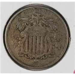 1866 RAYS SHIELD NICKEL