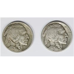 1915-D AND 1913-D BUFFALO NICKELS
