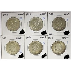 HALF DOLLAR LOT - 6 COINS TOTAL