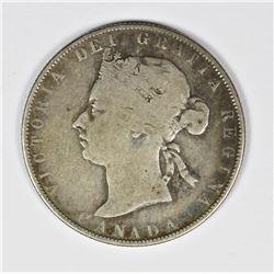 1881-H CANADA HALF DOLLAR