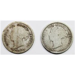 TWO CANADA DIMES: