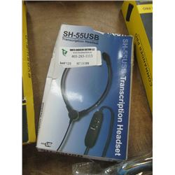 SH-55USB TRANSCRIPTION HEADSET