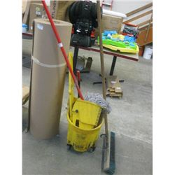 MOP BUCKET WITH MOP USED