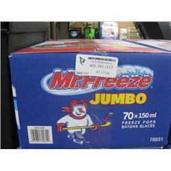 MR FREEZE 70 X 150ML FREEZE POPS