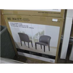 2-PACK LEATHER CHAIRS RETAIL $299.97 PER BOX