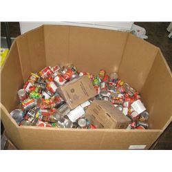 PALLET OF DENTED CANS OF FOOD