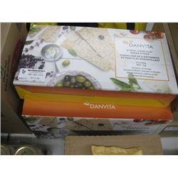5 BOXES DANVITA 8 PACKS CRISP FLAT BREAD STICKS