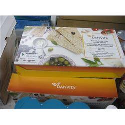 5 BOXES DANVITA 8 PACK CRISP FLAT BREAD STICKS