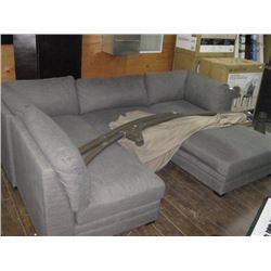 5PC USED GREY MODULAR COUCH