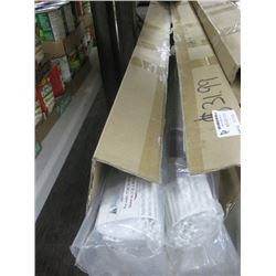 """WHOLE HOME PVC ROLLER SHADE BOX OF 5PC - 37.5"""" TO 49.25"""""""