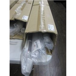 """WHOLE HOME PVC ROLLER SHADE BOX OF 4PC 37.5"""" TO 49.25"""""""