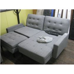 USED MODULAR COUCH WITH ADJUSTABLE RECLINING BACK
