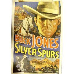 Vintage 1976 Buck Jones ''Silver Spurs'' Poster