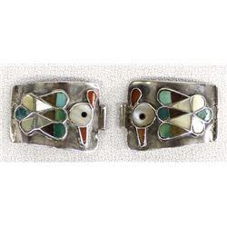 Zuni Sterling Silver Overlay Watch Tips
